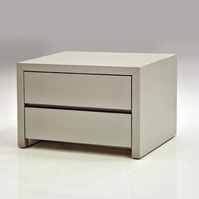 Blanche Nightstand Color: High Gloss Stone, Size: 16