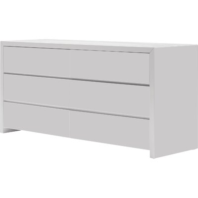 Blanche 6 Drawer Dresser Color: High Gloss White
