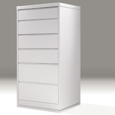 Linn 6 Drawer Chest Color: White