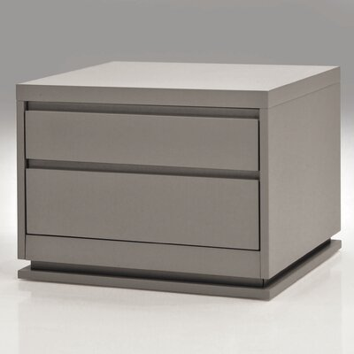 Linn 2 Drawer Nightstand Finish: Gray