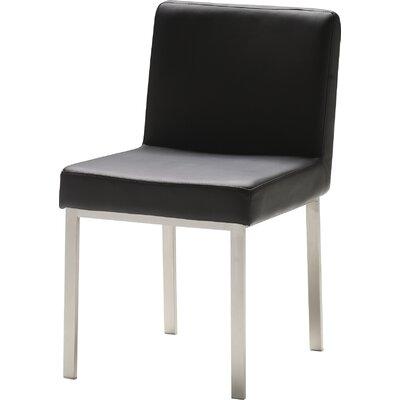 Tarna Parsons Chair (Set of 2) Upholstery: Black