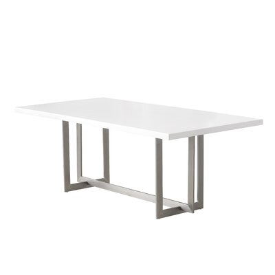 Bryan Dining Table Color: Matte White