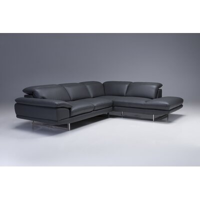 Deontaye Left Hand Facing Chaise Upholstery: Slate, Orientation: Right Hand Facing
