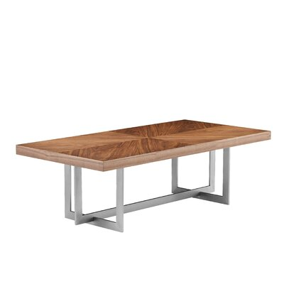 Onshuntay Rectangular Coffee Table Top Color: Natural Walnut