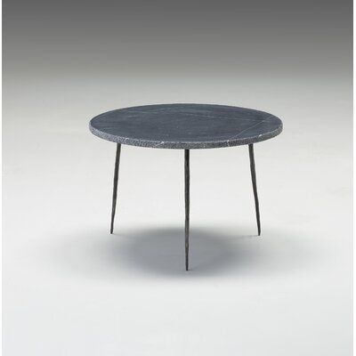 Atropos Low End Table Top Color: Black Marble
