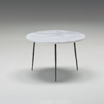 Atropos Low End Table Top Color: White Marble