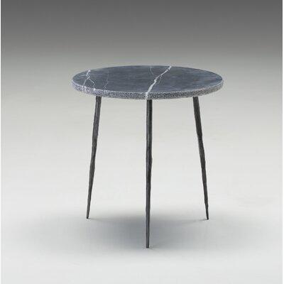 Atropos Medium End Table Top Color: Black Marble