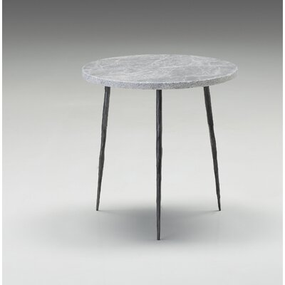 Atropos Medium End Table Top Color: Gray Marble