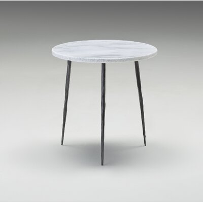 Atropos Medium End Table Top Color: White Marble