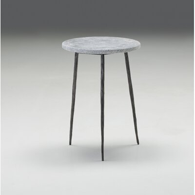 Atropos Tall End Table Top Color: Gray Marble