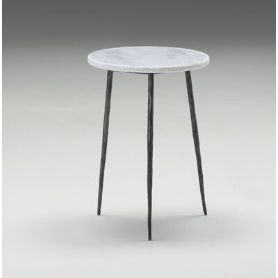 Atropos Tall End Table Top Color: White Marble