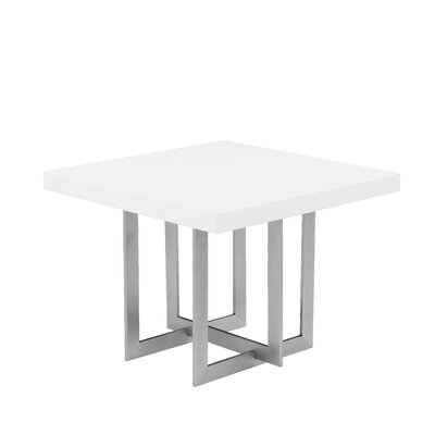 Onshuntay End Table Top Color: White