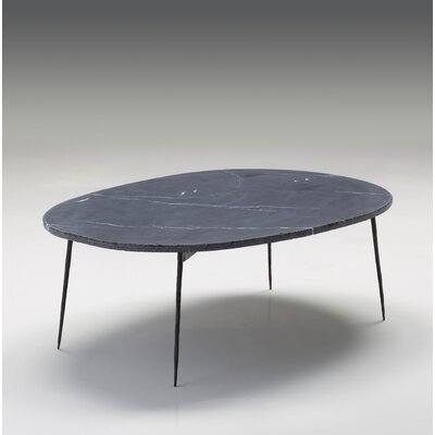 Athena Large Coffee Table Size: 14 H x 39 W x 28 D, Top Color: Black Marble