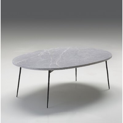 Athena Large Coffee Table Size: 14 H x 39 W x 28 D, Top Color: Gray Marble