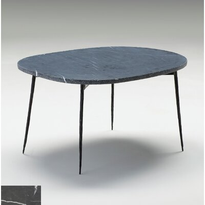 Athena Large Coffee Table Size: 16 H x 30 W x 22 D, Top Color: Black Marble