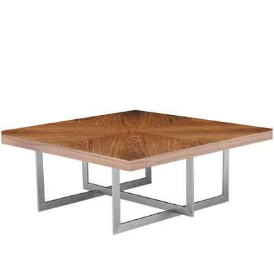 Onshuntay Square Coffee Table Top Color: Natural Walnut