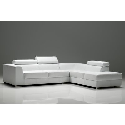 Cesca Right Side Facing Chaise Sectional Upholstery: Pure White