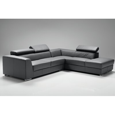 Cesca Right Side Facing Chaise Sectional Upholstery: Dark Gray
