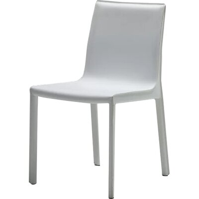 Fleur Upholstered Dining Chair (Set of 2) Finish: White