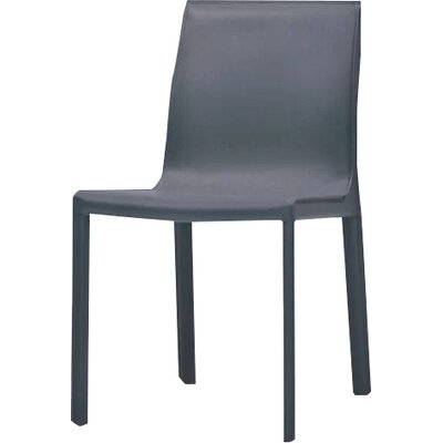 Fleur Upholstered Dining Chair (Set of 2) Finish: Dark Grey