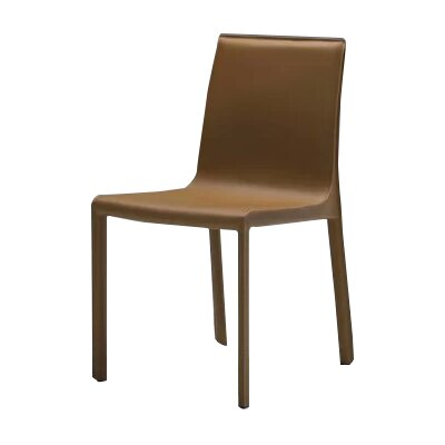 Fleur Upholstered Dining Chair (Set of 2) Finish: Caramel