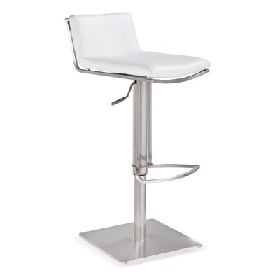 Financing Bond Adjustable Bar Stool Seat: Whi...