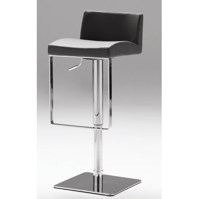 Astro Adjustable Height Bar Stool Seat: Grey