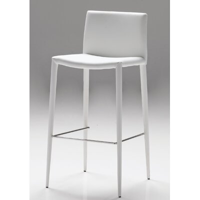 Zeno 30 Bar Stool (Set of 2) Seat: White