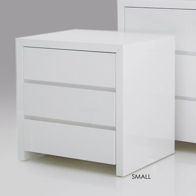 Furniture leasing Bianca 3 Drawer Nightstand Size: 24...