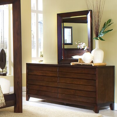 Island 6 Drawer Dresser with Mirror