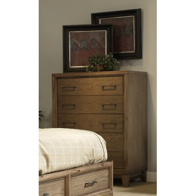 Chelsea 5 Drawer Chest Color: Latte