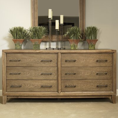 Chelsea 6 Drawer Standard Dresser Color: Latte
