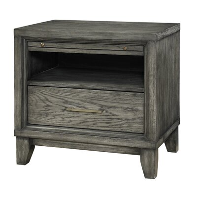 Chelsea 1 Drawer Nightstand Finish: Gray Wash