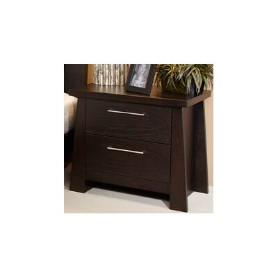 Fusion 2 Drawer Nightstand Finish: Ebony