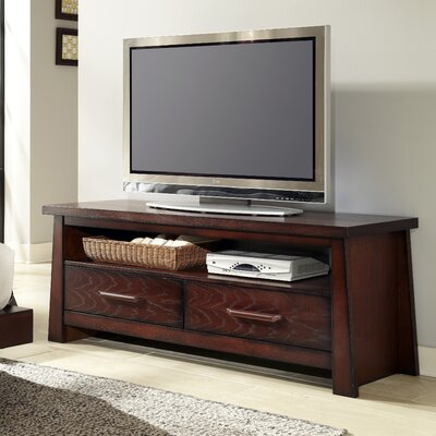 Fusion 2 Drawer 60 TV Stand Color: Weathered Mahogany