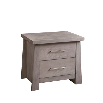 Fusion 2 Drawer Nightstand Color: Driftwood Gray