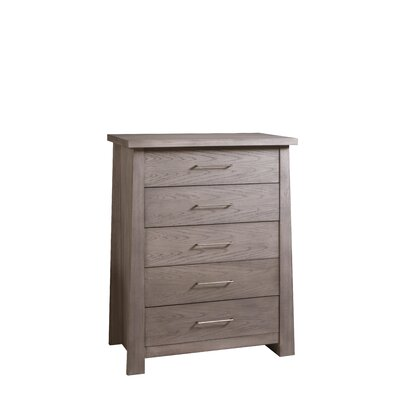 Fusion 5 Drawer Chest Color: Driftwood Gray