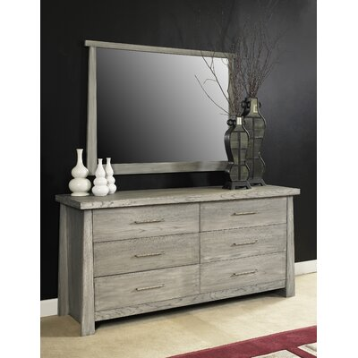 Fusion 6 Drawer Double Dresser Color: Driftwood Gray