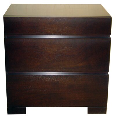 No credit financing Madrid 3 Drawer Nightstand...