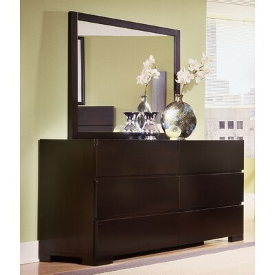 Madrid 6 Drawer Dresser with Mirror