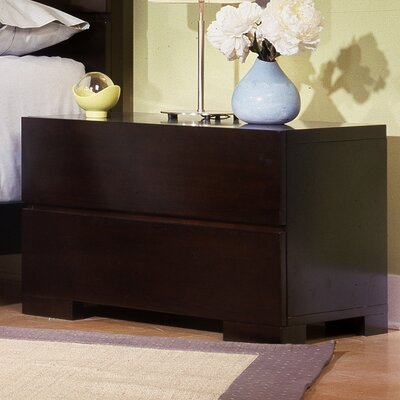 Easy financing Madrid 2 Drawer Nightstand...