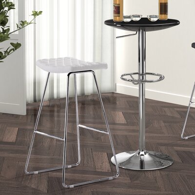 No credit financing Crescent Barstool in White (Set of ...