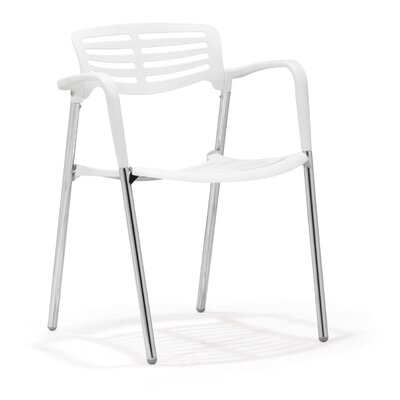 Low Price dCOR design Scope Arm Chair (Set of 4) Finish: White
