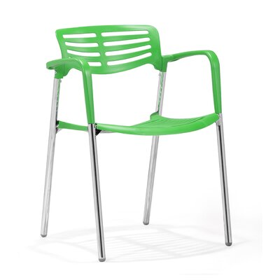Low Price dCOR design Scope Arm Chair (Set of 4) Finish: Green