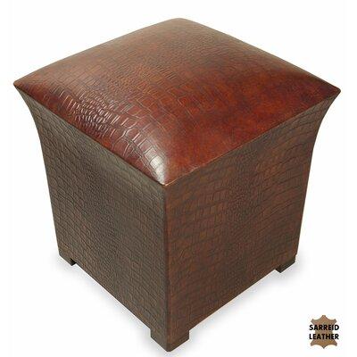 Bayou Croc Leather Ottoman