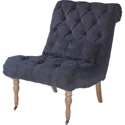 Boudoir Side Chair Upholstery: Midnight