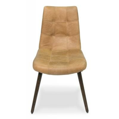 Harned Leather Side Chair Finish: Light Beige