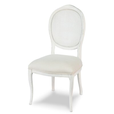 Abrella Oval Back Side Chair (Set of 2) Upholstery: White
