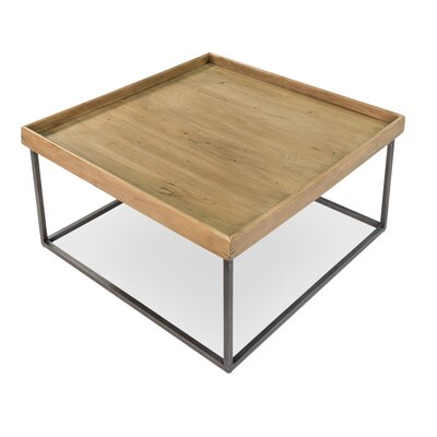 Square Tray Coffee Table with Tray Top