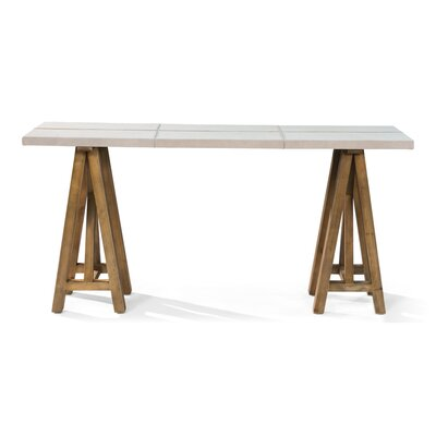 Buckskin Cover Console Table
